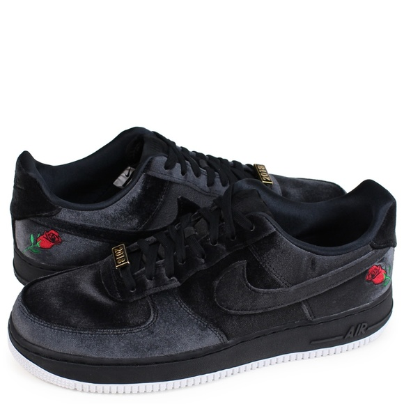 Nike Air Force 1 07 QS Black Red 'Velvet Rose